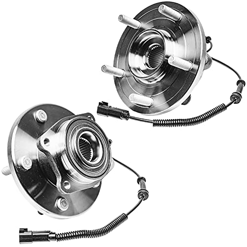 Detroit Axle - Front Wheel Hub & Bearing Assembly Replacement for Town & Country Dodge Grand Caravan VW Routan Ram C/V - 2pc set