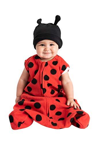 Cuddle Club Sacos de Dormir de Forro Polar para bebé – Pijama bebé Tipo Saco de Dormir - Pijama Manta bebé para recién Nacido-LadyBugWBXL