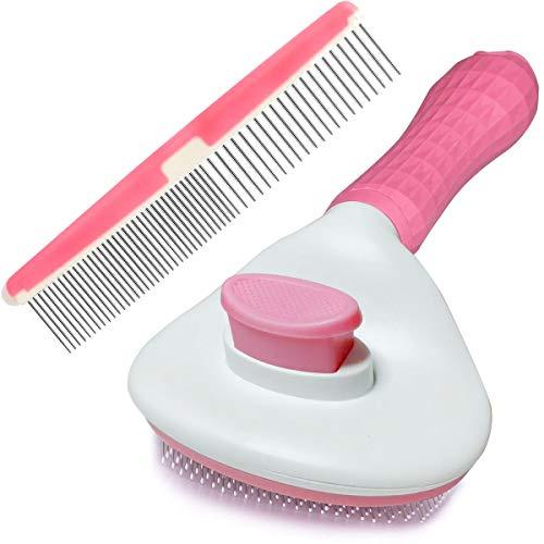 Btromeshy Dog Brush,Cat Grooming Brush Self Cleaning Slicker Brush and Pet Grooming Comb,Short or...