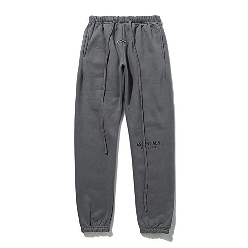 Plus Velvet Fog Double Line Pants Youth Autumn Winter High Street Casual 3M Reflective Sports Pants Trousers Grey