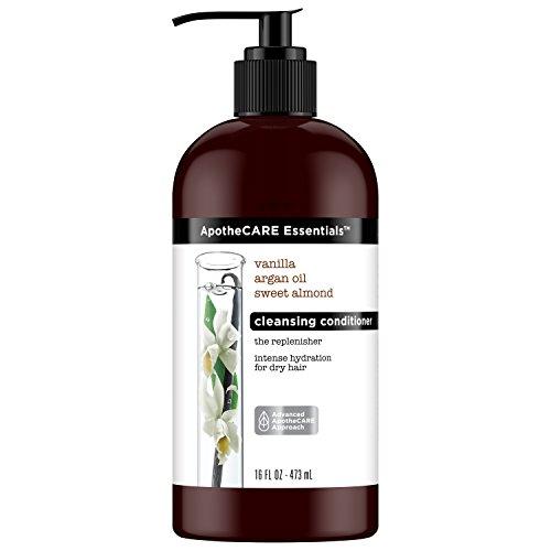 ApotheCARE Essentials The Replenisher Moisturizing Cleansing Conditioner, Vanilla, Argan Oil, Sweet Almond, 16 oz