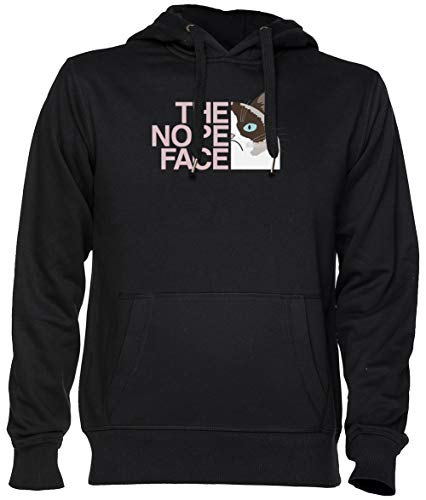 The Nope Face Negro Jersey Sudadera con Capucha Unisexo Hombre Mujer Tamaño XS Black Unisex Hoodie Size XS