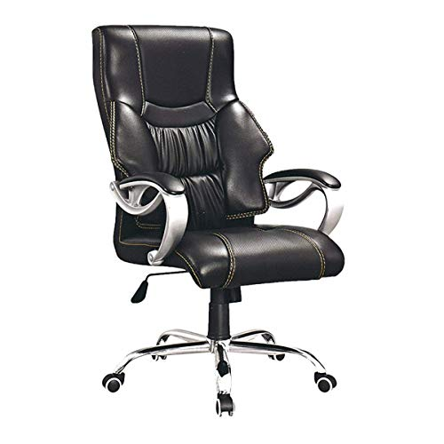 Mid-Back Faux Leather Computer Executive Office Chair, Modern and Ergonomic Design, Adjustable Seat Height, Tilt Mechanism, 360 Degree Swivel