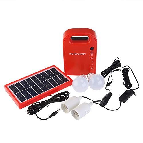 GutReise - Kit de sistema de energía solar para el hogar portátil, sistema de generación al aire libre, pequeños paneles solares DC generador de carga de emergencia