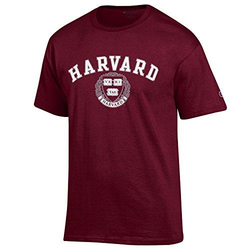 Champion University of Harvard Crimson T Shirt, Maroon XXL