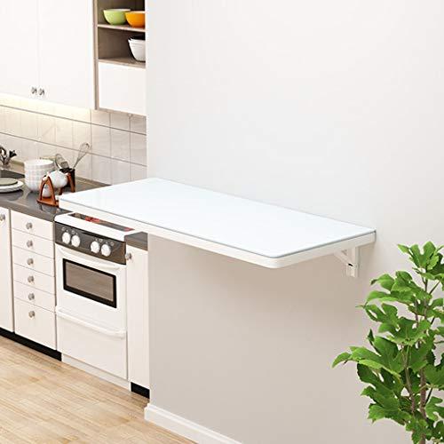 Wall-mounted table Escritorio Plegable de Pared, Mesa de Pared Invisible, Mesa de Pared abatible para Comedor, Estudio, Cocina, Cena, lavandería, Bar, etc, ahorrador de Espacio