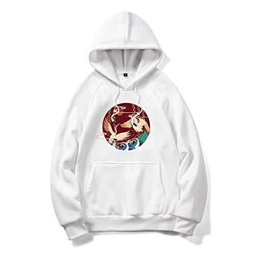 Herbst/Winter Herrenbekleidung Kranichdruck Kapuze Plus Size Sweater Loose Casual Top Herren