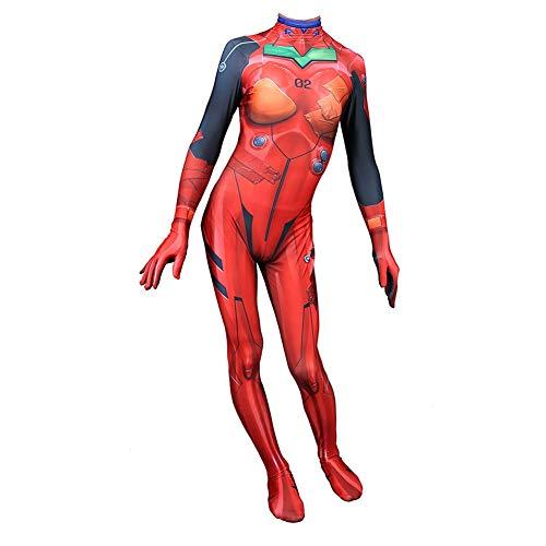 Performance Weiblicher Superheld Cosplay Evangelion-Kostüm-Mädchen Kinder Halloween Strumpfhosen Overall Anzug Prom Kleidung Partei Props Set RYUXUI (Color : Uniform, Size : 95-110)