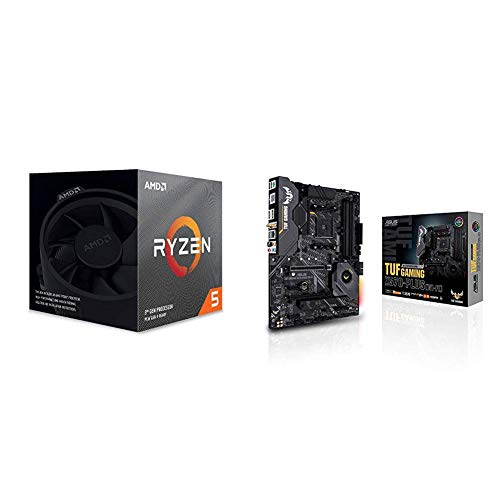 AMD Ryzen 5 3600X Processor (6C/12T, 35MB Cache, 4.4 GHz Max Boost), and ASUS X570-Plus (WiFi) Motherboard
