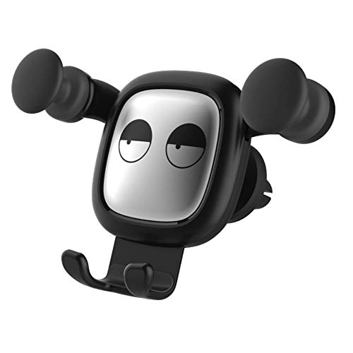 Gravity Inductie Cartoon Car Outlet Mobile Phone Bracket,Silver