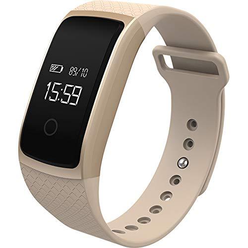 AjAC Multi-sport-modus smart-pedometer, calorieën, slaap-/wekker, hartslagfrequentie, stappenteller, activiteitstracker voor kinderen en ouderen.