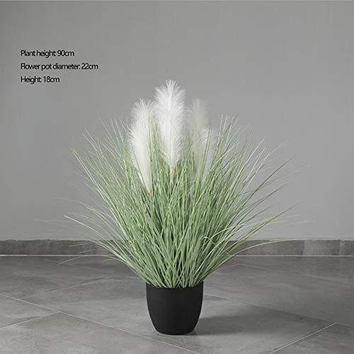 RUIZHISHUArtificial Planten, Grote Riet Nep Planten, Indoor Home Decoratie Potplanten Twee Kleuren