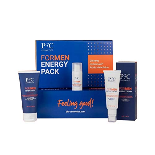 PFC COSMETICS Pack Formen Energy Tratamiento de Belleza Específico para Pieles Masculinas, 3 Unidades