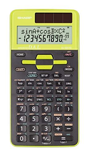 Sharp EL-531 TG-GR Wissenschaftlicher Schulrechner (D.A.L.-Eingabe,  Solar-/Batteriebetrieben) grün