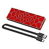 Unidad de Estado sólido móvil, portátil M.2 SSD de 2TB Stripe Almacenamiento Externo de Disco Duro de Alta Velocidad Tipo c3.1, Adecuado para PC, Mac, portátil, Xbox Compatible USB 2.0 2TB (Red)