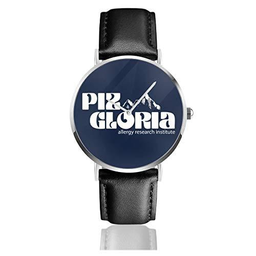 Unisex Business Casual James Bond Piz Gloria Uhren Quarz Leder Uhr mit schwarzem Lederband für Männer Frauen Junge Kollektion Geschenk