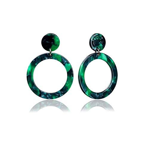 LDH European and American Exaggerated Earrings for Girls Fashion Geometric Earrings Female Leopard Print Acetate Acrylic Earrings
