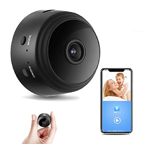 Mini Hidden Spy Camera WiFi Small Wireless Video Camera Full HD 1080P Night Vision Motion Sensor Monitor iPhone Android Video Detection Security Nanny Surveillance Cam