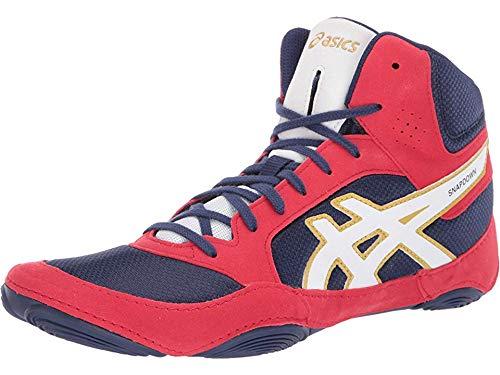 ASICS Unisex Snapdown 2 Wrestling Shoes, 11.5M, Indigo Blue/White