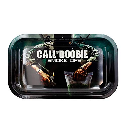 Metal Rolling Tray, Call of Doobie Design by V Syndicate, Medium (Available in 2 Sizes)