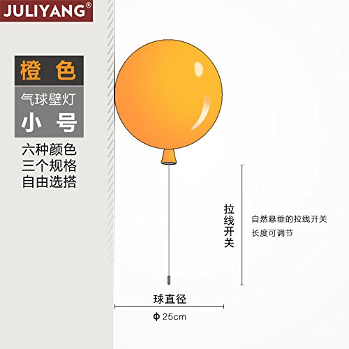 JJZHG wandlamp wandlamp waterdichte wandverlichting kleur ballon wandlamp kinderkamer slaapkamer lamp volledig geleid slaapkamer bedlampje omvat: wandlamp