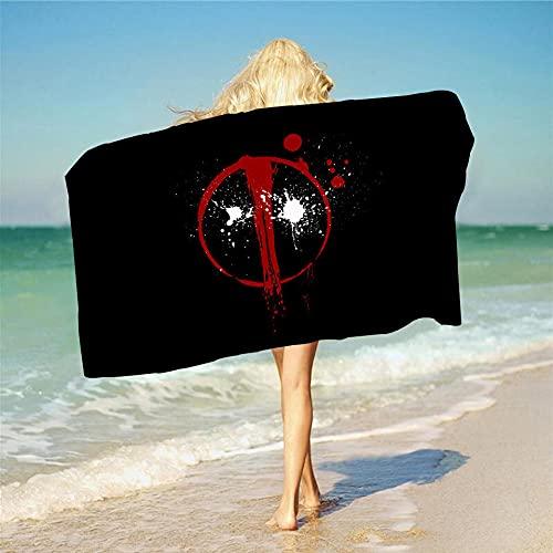Proxiceen Marvel Deadpool - Toalla de playa con impresión digital en 3D, tamaño A4,70 x 140 cm