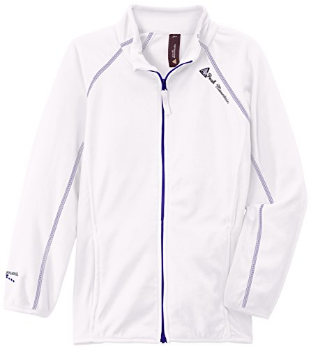 Peak Mountain Gafone/AF Sweat Micro Polaire zippé Fille, Blanc, FR Ans (Taille Fabricant : 16)