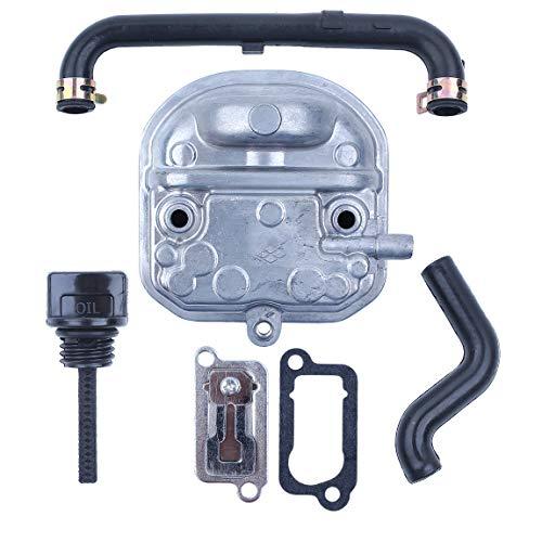Haishine Kit de válvula de lámina de Manguera de la Varilla de medición de Aceite del Sello de la Cubierta del Cilindro de para Honda GX35 35cc 4-Cycle Mini Motor Desbrozadora