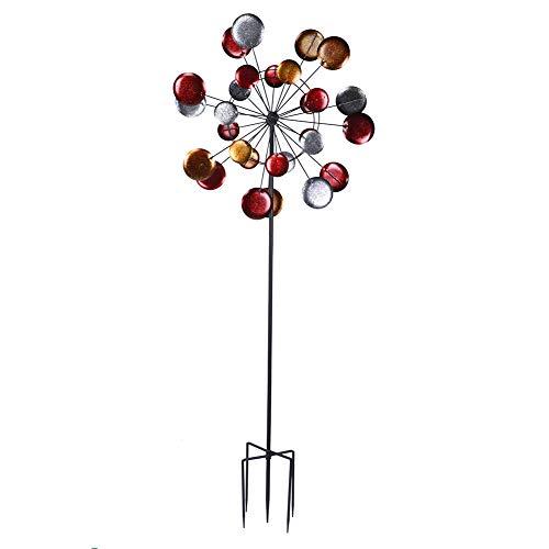 Metall Garten Windmühle Wind Ornament Dekoration Outdoor Garten Windmühle Rasen Windmühle Metallwindrad Windräder Gartendeko Gartenstecker Windspiel Bunte Eisen Windmühle 71 x 190cm