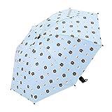 JUNDY Regenschirm Mini, Taschenschirm, leicht klein und kompakt windsicher Bär Regenschirm aus schwarzem Gummi Sonnenschutzschirm Farbe3 98cm