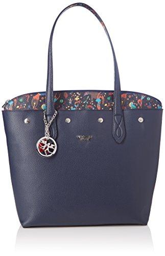 piero guidi Tote Bag con Busta, Borsa Donna, Blu (Blu Notte), 21x18.5x4 cm (W x H x L)