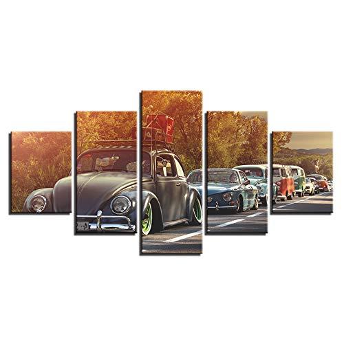 Lienzo Pintura Wall Arte De La Pared Moderna 5 Piezas Mucho Autos Cartel Impreso Decoracion Imágenes Salon Dormitorio Dondo De Pantalla
