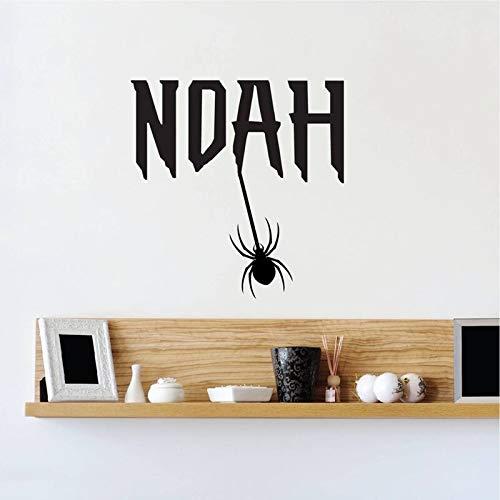 Sanzangtang aangepaste monogram slaapkamer naam sticker spin hangen lettertype naam behang sticker lettertype muurschildering muurkunst kinderen