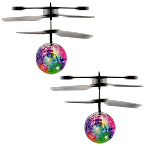 Eaxus 2X Infrarot LED Fliegender Heli Ball IR Sensor Hubschrauber Kugel Mini Heliball Selbstfliegender Kugel Helikopter Leuchtball Helicopter