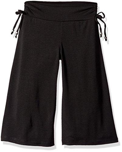 Amy Byer Gaucho-Hose für Mädchen, weich, gestrickt, weites Bein - Schwarz - XL