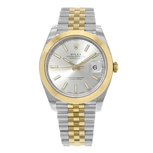 Rolex Datejust 41argento quadrante acciaio e 18K giallo oro Rolex Giubileo mens orologio 126303SSJ
