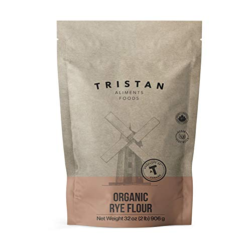 Tristan Foods Organic Rye Flour (2 lb.) Stone Ground, Ultra-Fine Texture | Vegan-Friendly Cooking and Baking Use | Sourdough, Crackers, Breads | Cultivated in Canada