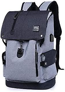 Asdfnfa Men's Backpack Anti-Theft Backpack Leisure Travel Bag Laptop Bag (Color : Gray)