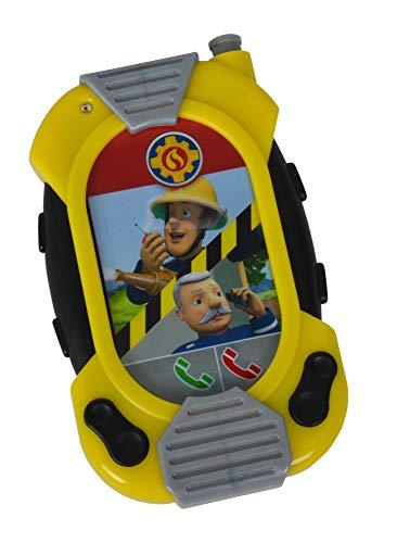 Simba 109258697 - Feuerwehrmann Sam Feuerwehr Messenger / Rollbarer Bildschirm mit verschiedenen Motiven / Mit Gürtelclip / 12cm