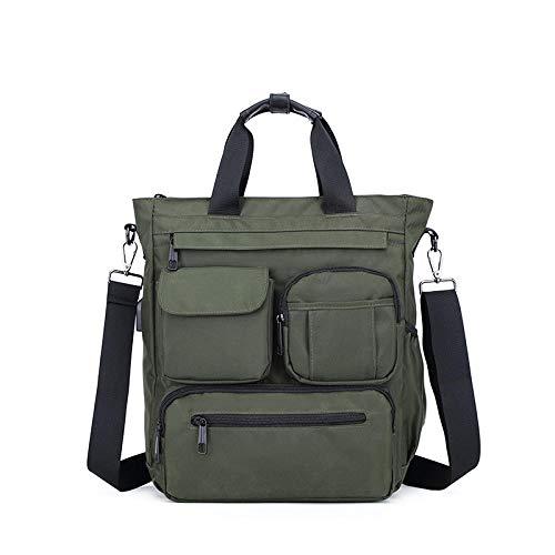ZZKHSM Tragbare Herrentasche vertikale lässige Schulter Reißverschluss Umhängetasche multifunktionale große Kapazität Herrentasche-grün
