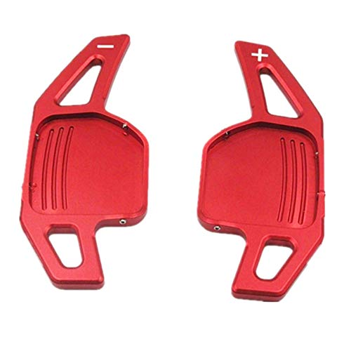 YYMM Shift Paydles. for Sterzo Audi A3 S3 A4 S4 B8 A5 S5 A6 S6 A8 Q5 Q7 TT Rotella DSG Paddles Extension Shifters Adesivi (Color : Stype B Red)