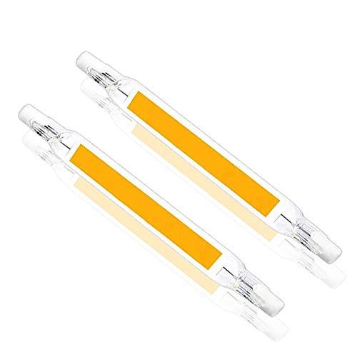 ALASON R7S 118MM 20W LED-Lampe Warmweiß 2700K J118 Röhre Leuchtmittel Brenner-Ende 2000lm Ersetzt 200W Halogenstablampe 360°für Landschaftsleuchten Sicherheitsleuchten 2 Stück