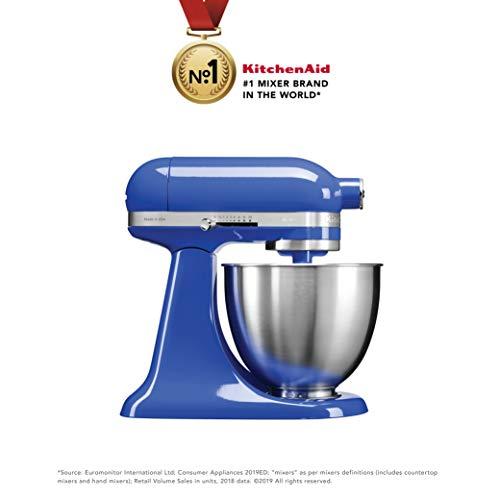 KitchenAid Artisan Series 5KSM3311XBTB 250-Watt 3.3-Litre Mini Stand Mixer (Twilight Blue)