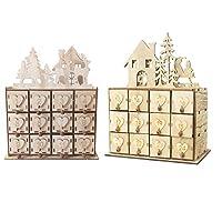 Vielseitig: Kann als Ornament, Aufbewahrungsbox oder Weihnachts-Countdown-Kalender verwendet werden. Mehrere Schubladen: Mit 24 Schubladen können Sie Schmuck, Süßigkeiten oder alles, was Sie wollen, in eine Schublade legen. DIY-Spielzeug: Unsere hölz...