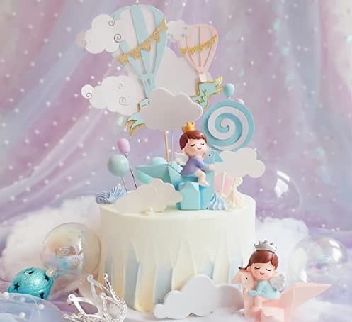6PCS Set Crown Prince Girl Boy low-pricing Topper Online limited product Cake Cupcake Children Baby