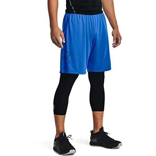 Under Armour UA SPEED STRIDE TIGHT, komfortable und atmungsaktive Sport Leggings mit Tasche, leichte Kompressionshose mit Anti-Odor Technologie Herren, Black / Black / Reflective, 2XL