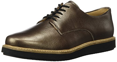 Clarks Damen Glick Darby Derbys, Beige (Pewter Leather), 39.5 EU