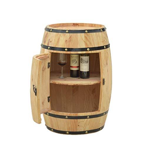 JIANGLI Eichenfaß Weinschränkchen Dekoration, Schrank einzelne Tür mit großer Kapazität Massivholz Bierfaß Wine Rack Flasche Holzauslage Anzeige (Size : 75cm*55cm)