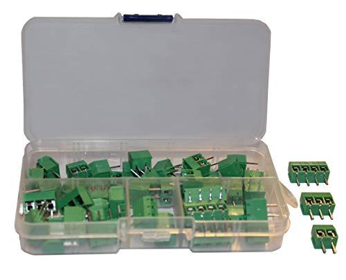 Screw Terminal Block Kit 5mm Pitch 2, 3, 4 Pole (40 pcs) by QSU