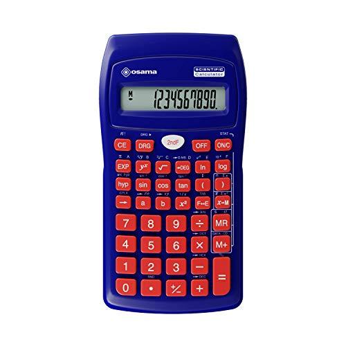 Osama Calcolatrice Scientifica 56 funzioni Becolor Blu/Rosso